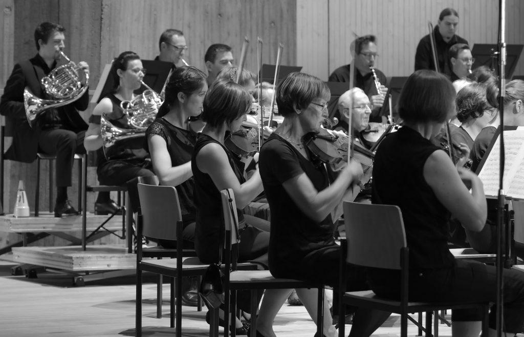 Blick in die Reihen des Voith Orchesters Heidenheim
