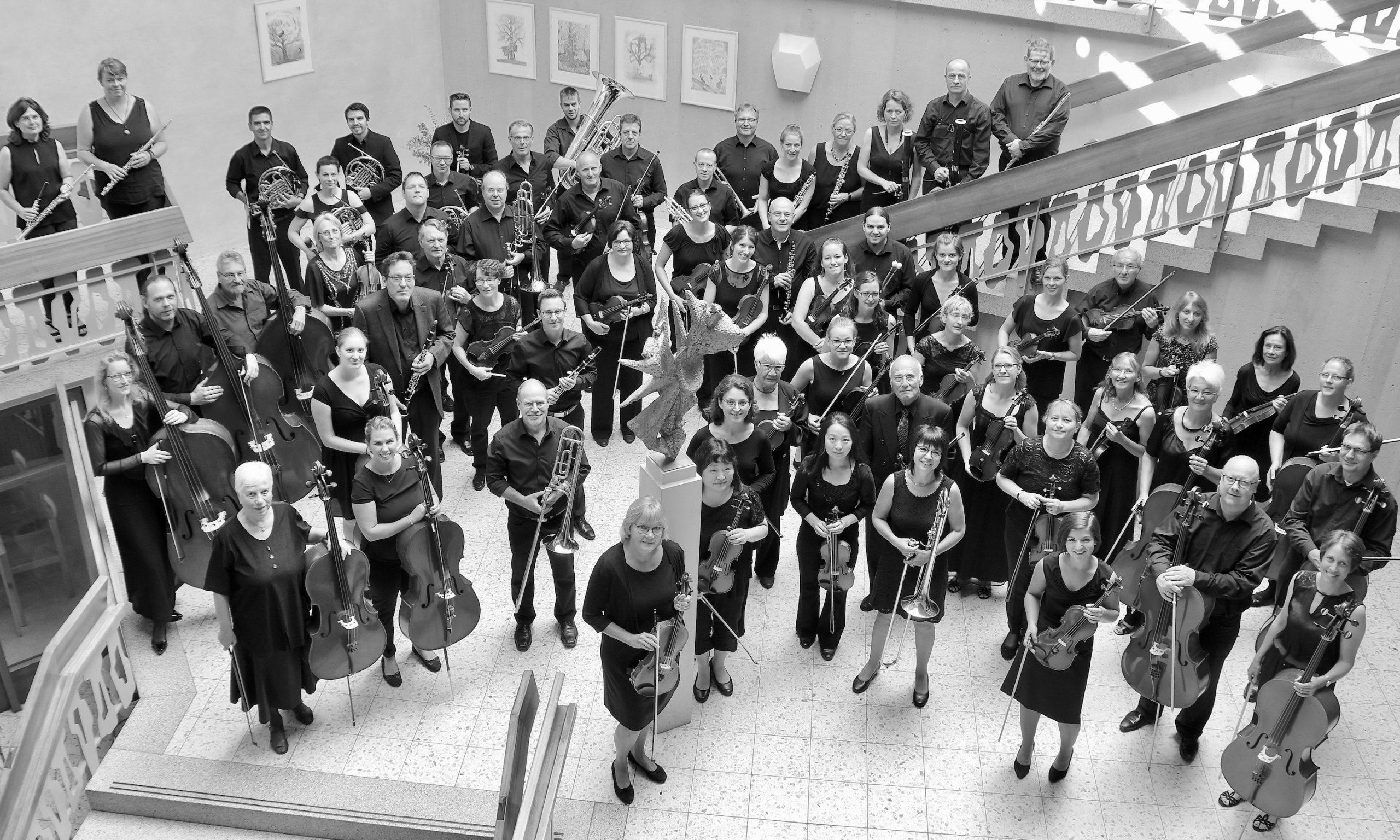 Die Musikerinnen und Musiker des Voith Orchesters Heidenheim